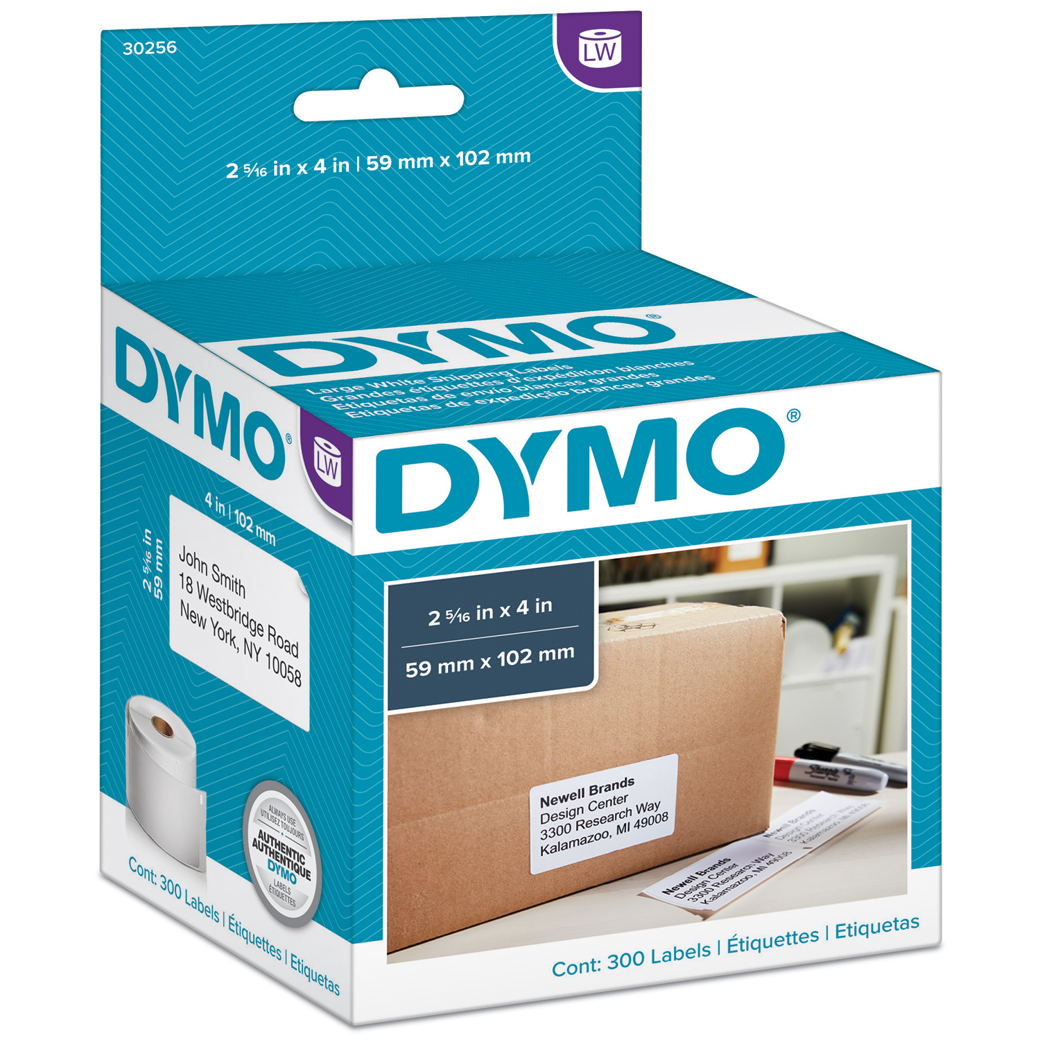 It's just a graphic of Légend Dymo Labels 2 5 16 X 4