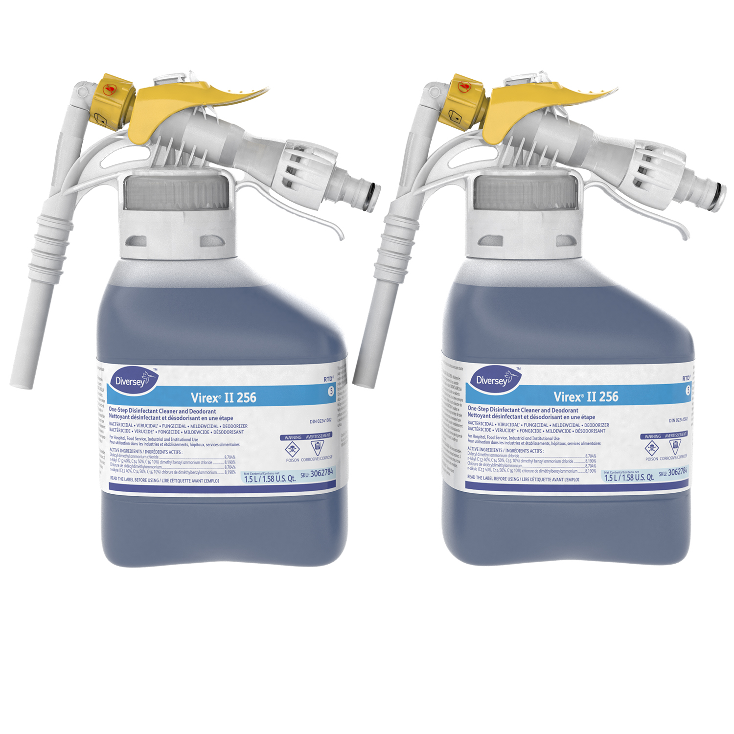 Diversey Virex Ii 256 One Step Disinfectant Cleaner And Deodorant 1 5 L Rtd 2 Ct Grand Toy