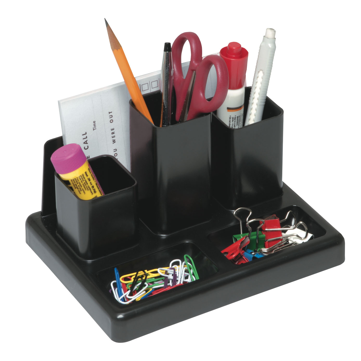 Victor 6 section desk organizer with note pad holder for Construction organizer notebook