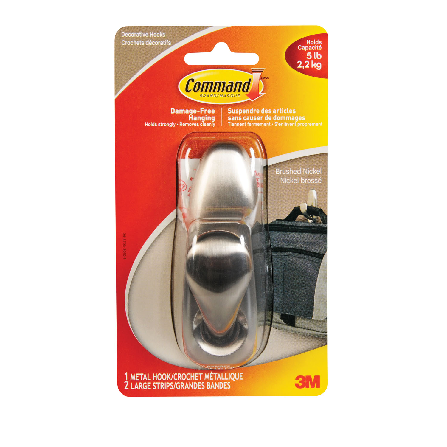 Command Forever Classic Large Size Metal Adhesive Hook