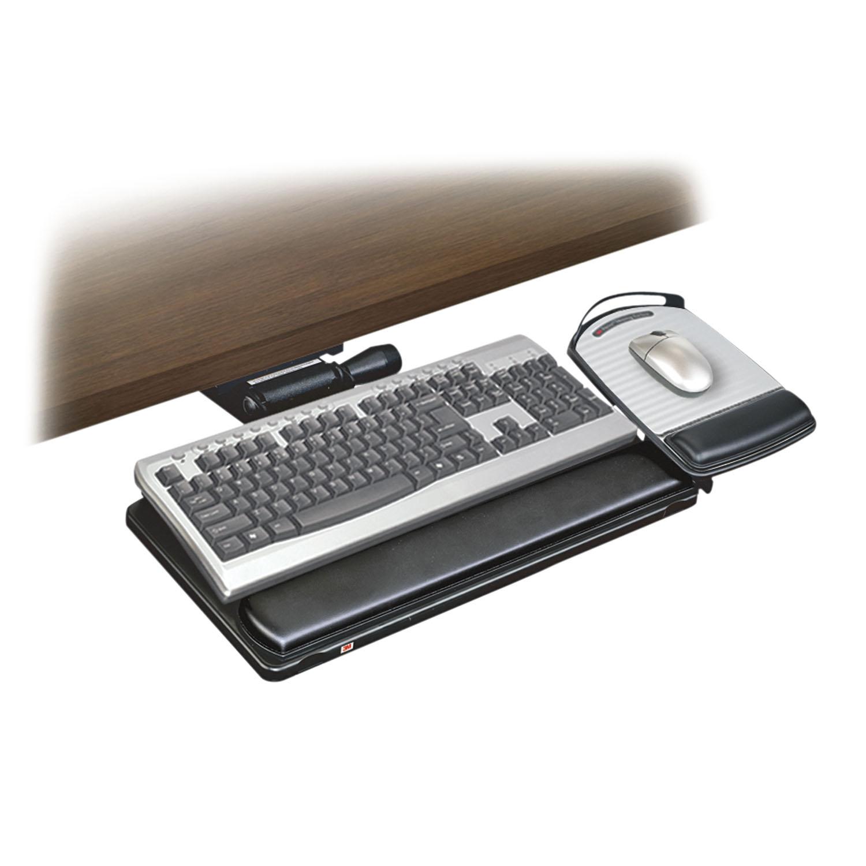 porte clavier r glage facile avec plateau souris 3m. Black Bedroom Furniture Sets. Home Design Ideas