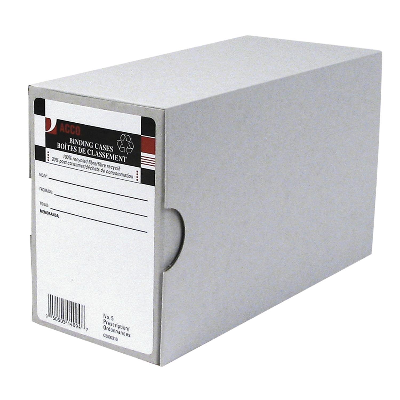Acco Arch File Binding Cases, Grey, #5, Prescription-Size