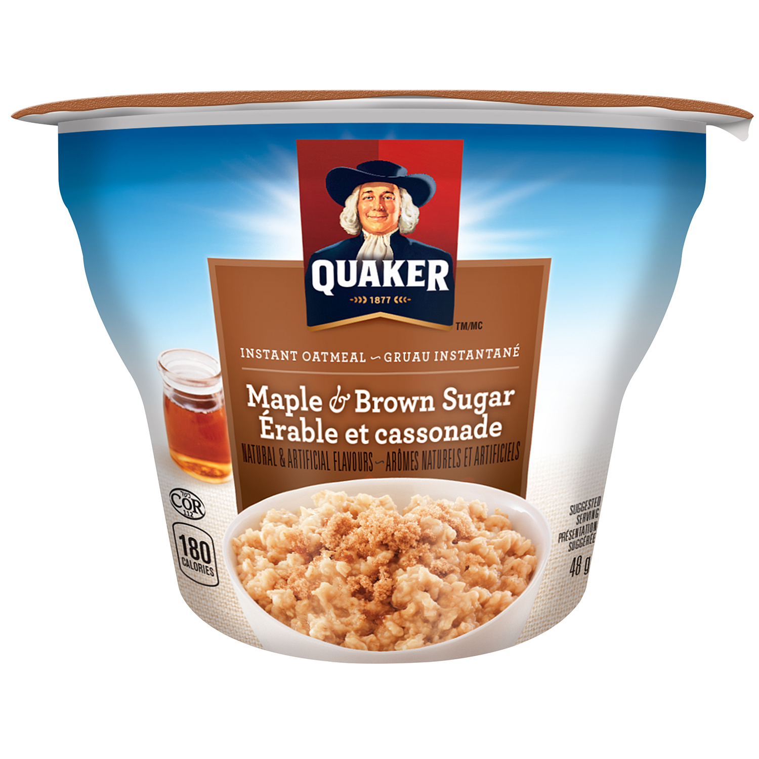 Quaker Instant Oatmeal, Maple & Brown