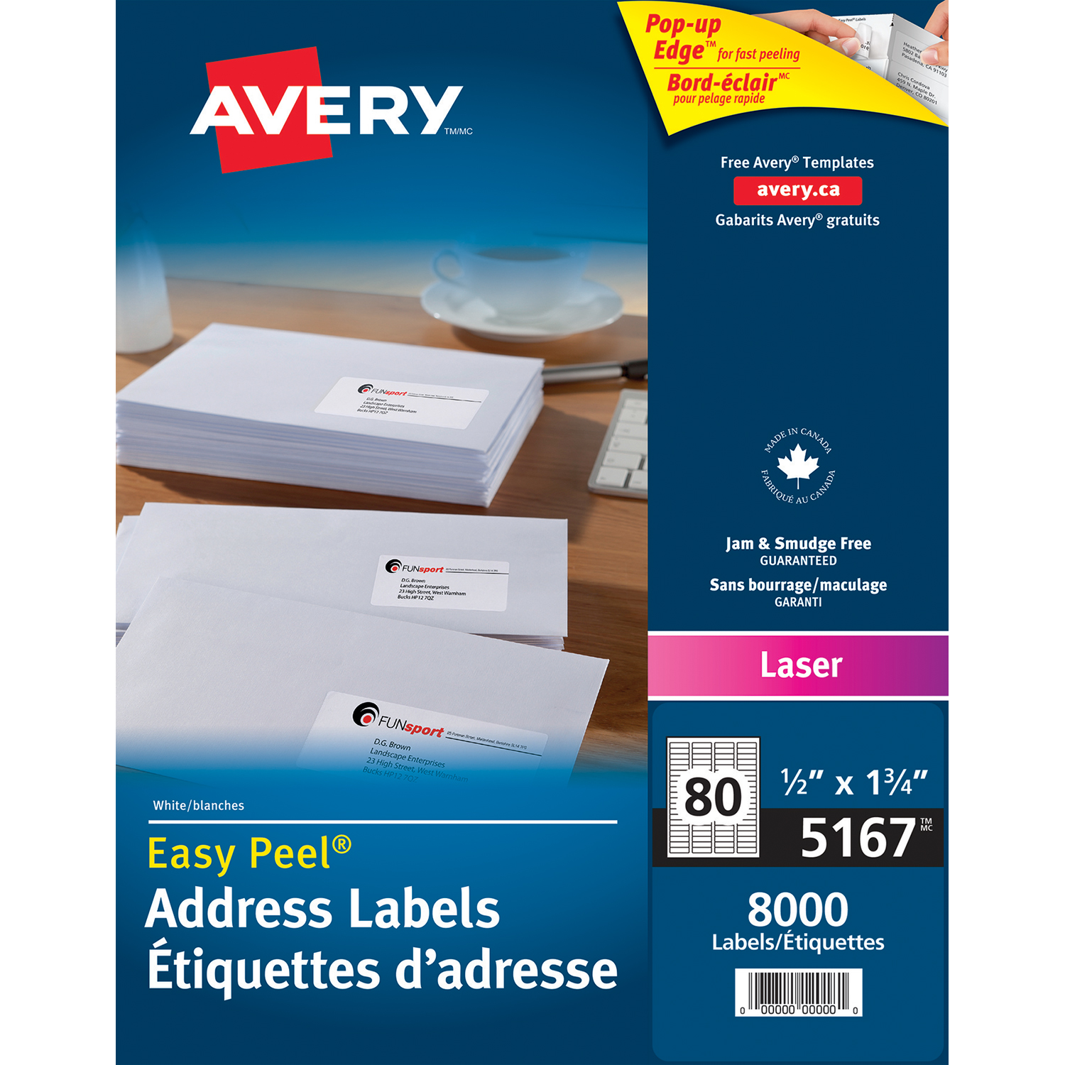 Avery white 1 2quot x 1 3 4quot easy peel address labels grand for 2 x 3 mailing labels
