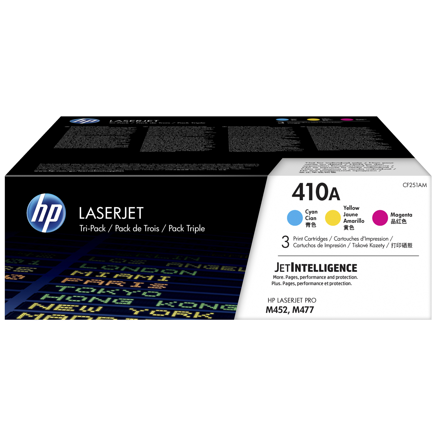 Hp 410a Cf251am Cyan Magenta Yellow Original Laserjet