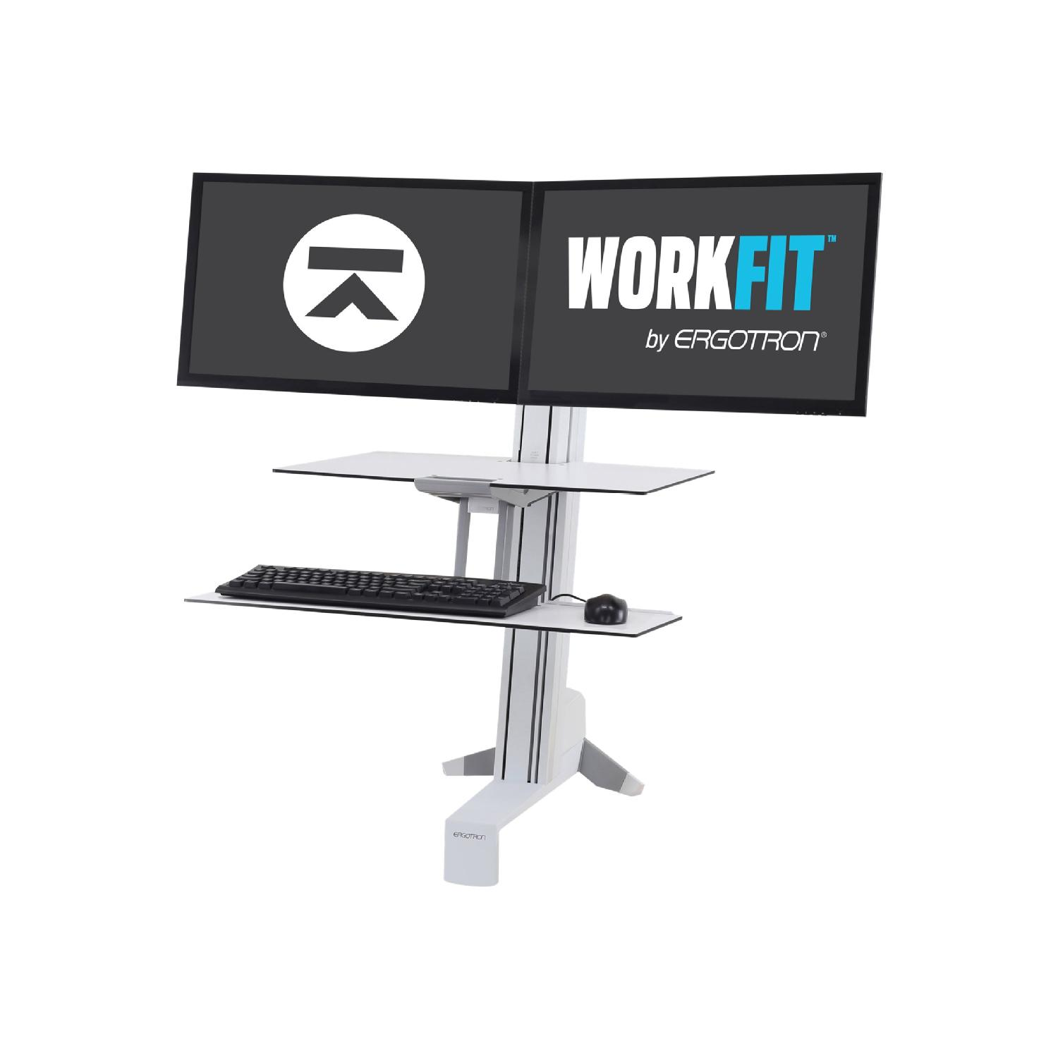 Ergotron Workfit S Dual Workstation With Worksurface