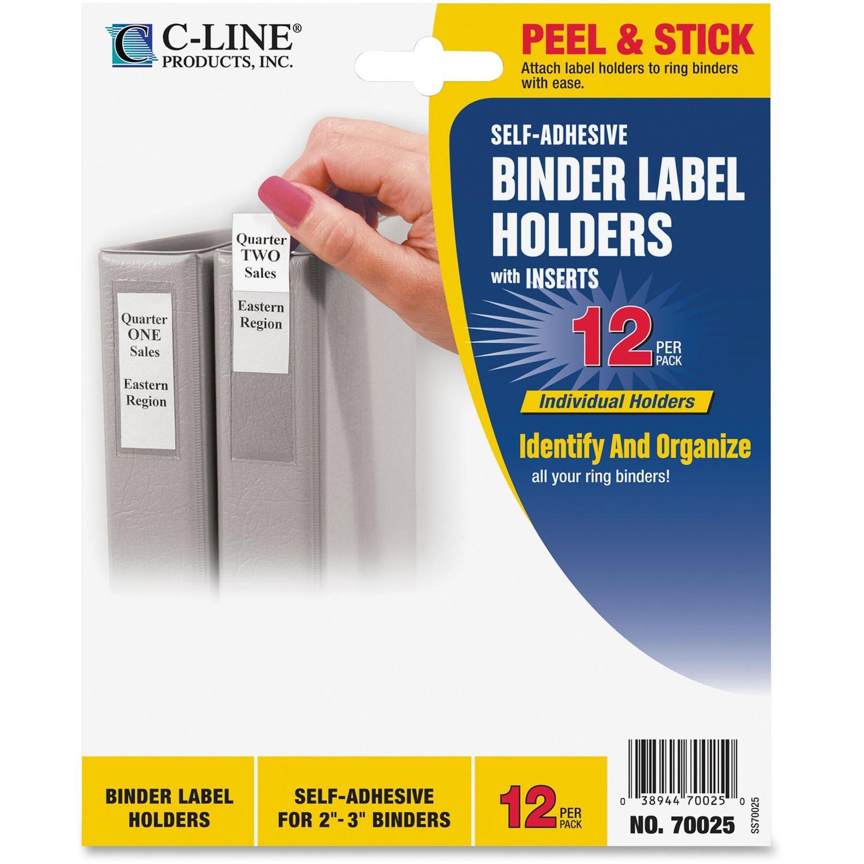 C-Line Self-Adhesive Binder Labels