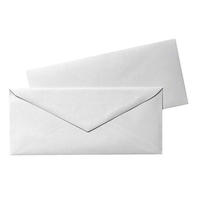 Grand & Toy #10 White Envelopes V-FLAP ENVELOPE