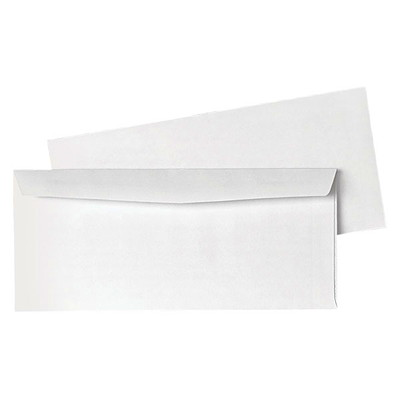 Park Preserve by Quality Park White #10 Business Envelopes 24LB WHITE WOVEN  NO WINDOW CARTON OF 1000