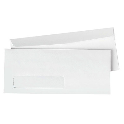 Park Preserve by Quality Park White #10 Business Envelopes WOVE ENVELOPE WITH WINDOW