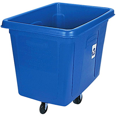 Rubbermaid Cube Truck 500 LB. CAPACITY  43-3/4IN. X 31IN. X 37IN.  BLUE
