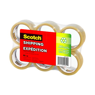 Scotch Recycled Shipping Packaging Tape  SHIPPING  RECYCLED  6PK 48MM X 50M 6PK