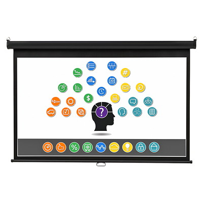Quartet Wide-Format Wall Mountable Projection Screen WALL MOUNT - 52