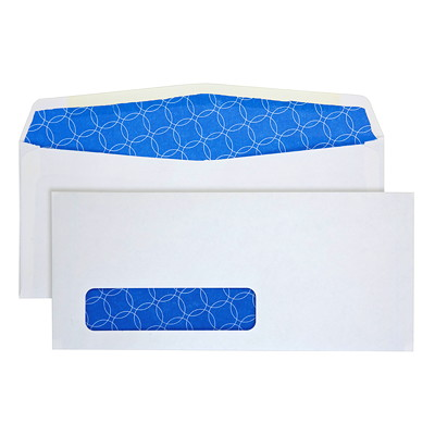 Quality Park Security-Tinted #10 White Business Envelopes ENVELOPE 4-1/8 X 9-1/2  500/BX ANTIBACTERIAL