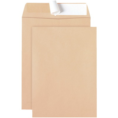 Ascend Peel-to-Seal Natural Kraft Envelopes PEEL-TO-SEAL CATALOGE ENVELOPE 50% POST CONSUMER CONTENT