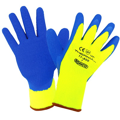 Ronco THERMAL Latex Coated Cold Resistant Glove SMALL COLD RESISTANT
