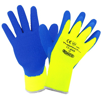 Ronco THERMAL Latex Coated Cold Resistant Glove X-LARGE COLD RESISTANT