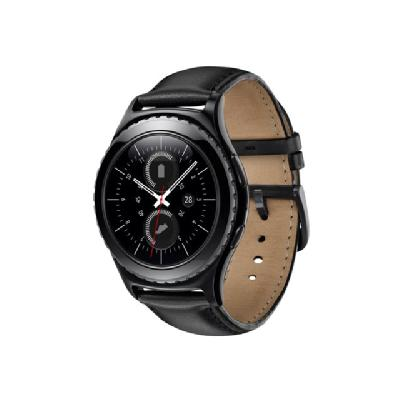 Samsung Gear S2 Classic - black - smart watch with black band - 4 GB  ACCS