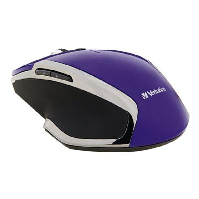 Verbatim Deluxe - mouse - 2.4 GHz - purple WIRELESS BLUE LED PURPLE COLOUR