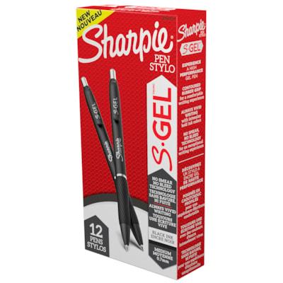Sharpie S-Gel Retractable Pens, Black, Medium 0.7 mm