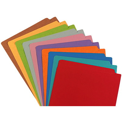 "Pendaflex Pink Coloured Straight Tab Letter-size (8 1/2"" x 11"") Shelf File Folders PENDAFLEX 10% PCW LETTER SIZE STRAIGHT TAB"