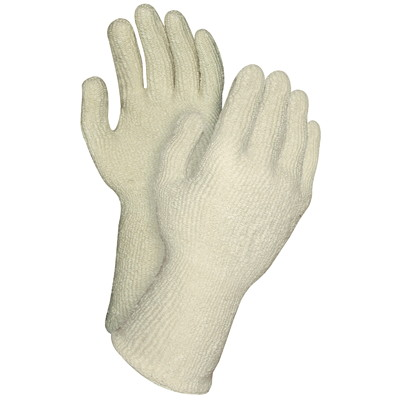 Gants en tissu éponge Thermo-Guard Ronco, beige, emb. de 12 paires