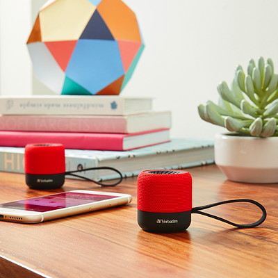 Verbatim Wireless Mini Bluetooth Speaker - speaker - for portable use RED