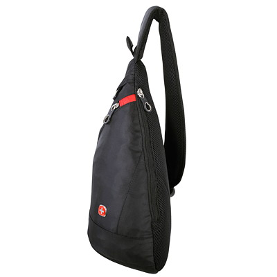 SwissGear Mini Sling Backpack, RFID Pocket, Black (SWT0361R)