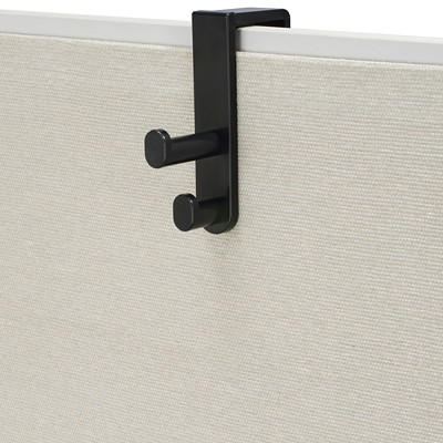 "Safco Over The Panel Double Hook, Black SAFCO ACCOMMODATES PANELS 1/2"" UP TO 3 1/4"""