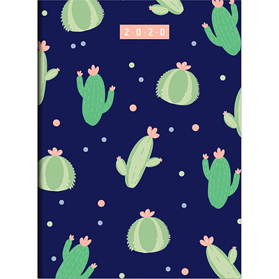 "TF Publishing Monthly Planner, 7 1/2"" x 10 1/4"", Cacti Dots, January 2020-December 2020, English  7.5 X 10.25 MONTHLY PLANNER JANUARY 2020 - DECEMBER 2020"