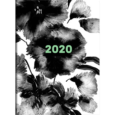 INKY FLORAL MONTHLY PLANNER 7.5 X 10.25 MONTHLY PLANNER JANUARY 2020 - DECEMBER 2020