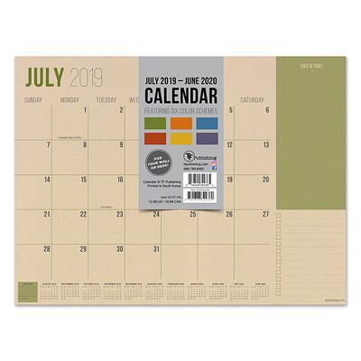 KRAFT AY MINI DESK PAD 12 X 9 ACADEMIC DESK CALENDAR JULY 2019 - JUNE 2020