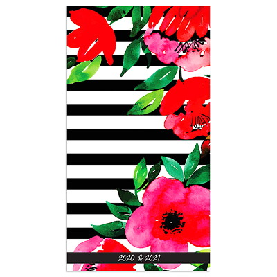CLASSIC FLORAL 2 YR POCKET PLA 3.5 X 6.5 2 YR POCKET PLANNER JANUARY 2020 - DECEMBER 2021
