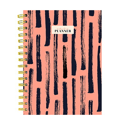 BLUSH STROKES WEEKLY MONTHLY P 6.5 X 8 WEEKLY MONTHLY PLANNER JANUARY 2020 - DECEMBER 2020