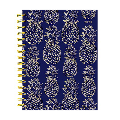 NAVY PINEAPPLE WEEKLY MONTHLY 6.5 X 8 WEEKLY MONTHLY PLANNER JANUARY 2020 - DECEMBER 2020