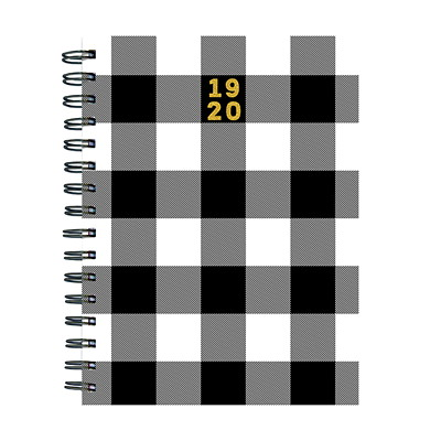 "TF Publishing Classic Plaid Academic Weekly Planner, 6 1/2"" x 8"", July 2019 - June 2020, English 6.5 X 8 WEEKLY MONTHLY PLANNER JULY 2019 - JUNE 2020"
