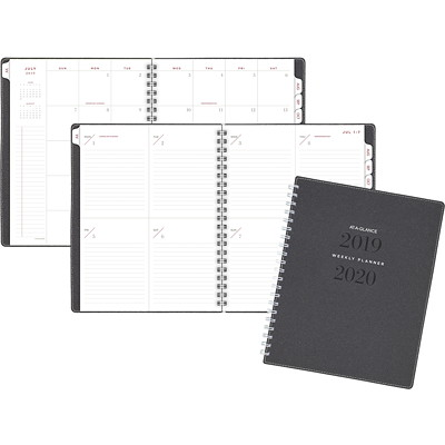 SIGNATURE ACADEMIC PLANNER WEEKLY/MONTHLY GREY - ENGLISH