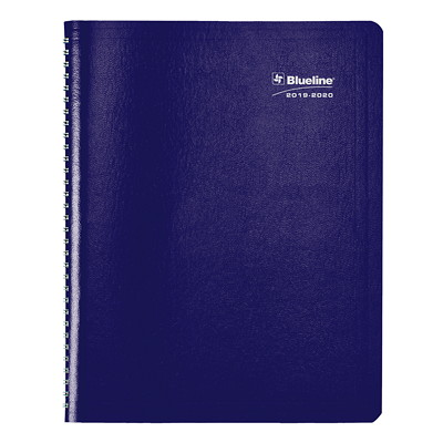 "Blueline Weekly/Monthly Academic Planner, 11"" x 8 1/2"", Blue, July 2019-July 2020, English 13-MONTH  ENGLISH 11 X 8-1/2  BLUE"