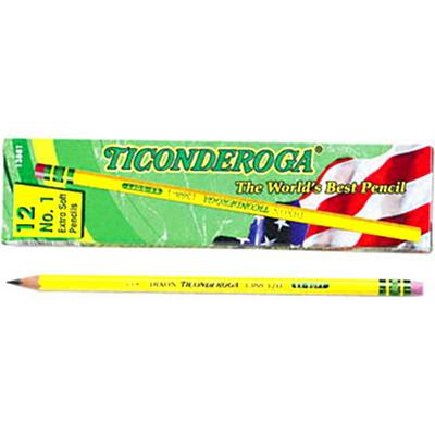 Dixon Ticonderoga Pencils with Erasers, #1B, Soft, 12/BX 12/BOX