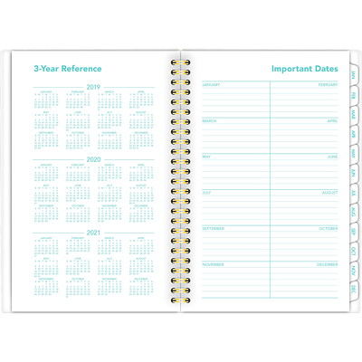 "At-A-Glance Weekly/Monthly Planner, 6 1/4"" x 8 1/2"", Parker Chevron, January 2020-December 2020, English WEEKLY/MONTHLY PLANNER ENGLISH"