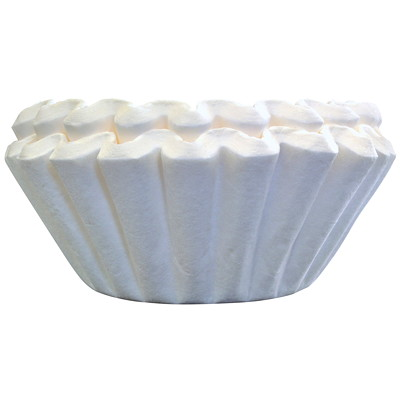 Melitta Basket Coffee Filters, Pure White, 100/PK WHITE  10-12 CUPS  100/PK