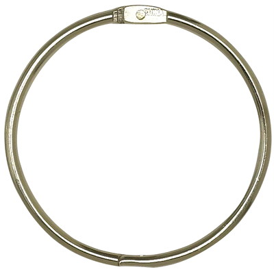 "Acme United Loose-Leaf Binding Rings, 3"" Diameter, 10/PK NICKLE-PLATED FINISH OPENS QUICKLY AND CLOSES SECUR"
