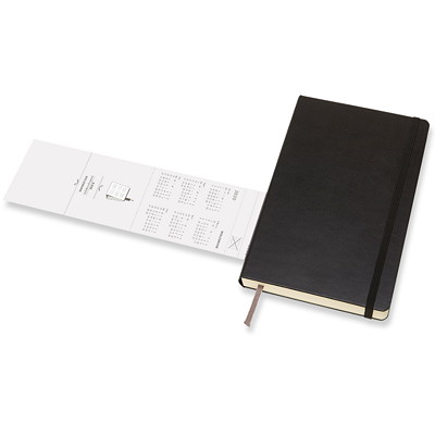 "Moleskine Daily Planner, 8 1/4"" x 5"", Black, January 2020 - December 2020, English 12 MTHS JAN-DEC  400 PGS BLK HARDCOVER 1 PG/DAY  FSC CERT"