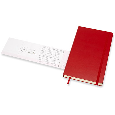 "Moleskine Daily Planner, 8 1/4"" x 5"", Red, January 2020 - December 2020, English 12 MTHS JAN-DEC  400 PGS RED HARDCOVER 1 PG/DAY   FSC CERT"