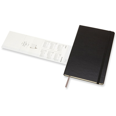 "Moleskine Weekly Planner, 5"" x 8 1/4"", Black, January 2020 - December 2020, English 1PPW  BLACK  8.5""X5"" HARDCOVER"