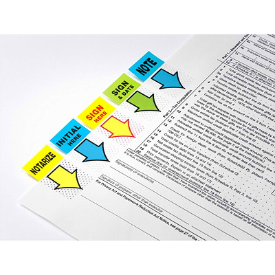 Post-it Pre-Printed With Sign Here Flags, 50 Flags/PK OVERWRAP 50 PER PKG