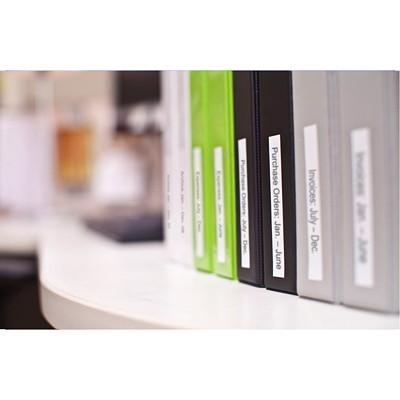 DYMO D1 Label Cassette, Black Type/White Tape, 12 mm x 7 m   ELECTR.LABELMAKER 12MM 23 FT DYMO 1000 200 3500 4500 5000