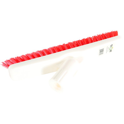 Globe Commercial Products Swivel Tile and Grout Brush, White/Red CHISEL CUT BRISTLE POLYPROPYLENE BRISTLES