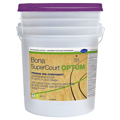 Diversey Bona SuperCourt OPTUM Waterborne Wood Athletic Floor Finish, 5 Gallon 5 GALLON PAIL  WATERBASE