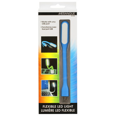 Merangue Portable USB Flexible LED Light, Assorted Colours (No Colour Choice on Delivered Orders) WORKS WITH ANY USB PORT POWER RATING 1.2 W